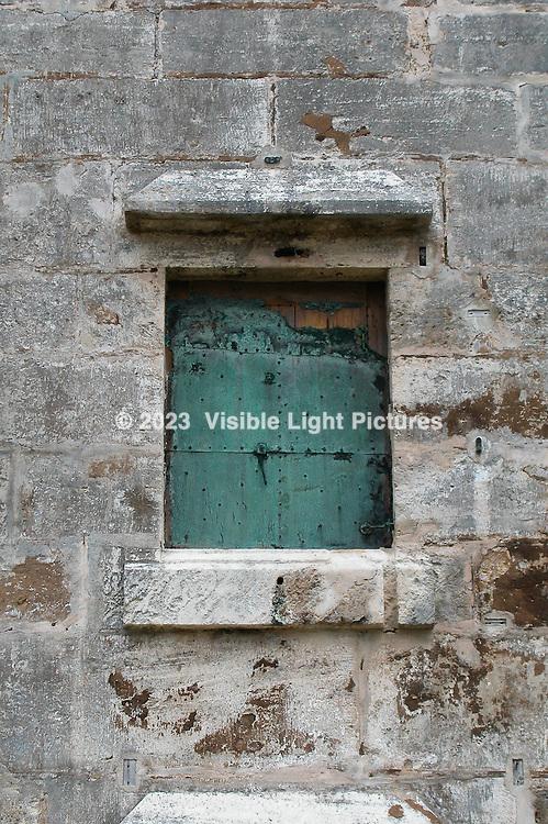 Fort St. Catherine, Bermuda, Metal Window