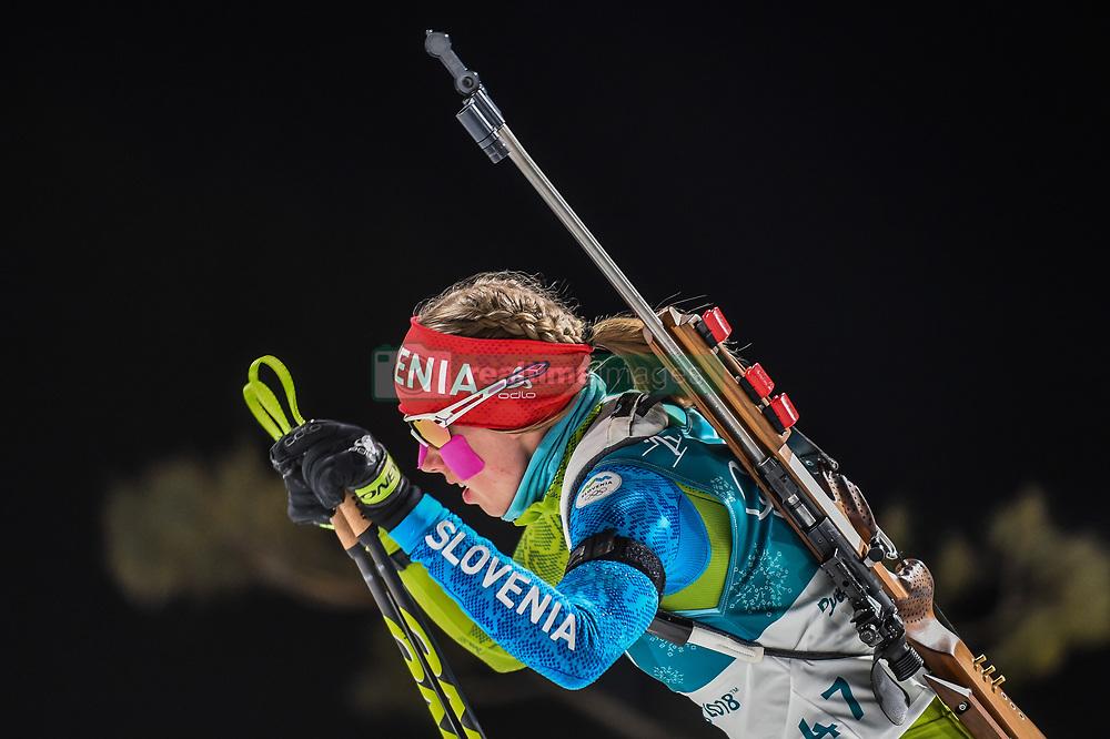 February 12, 2018 - Pyeongchang, Gangwon, South Korea - Anja Erzen ofSlovenia competing at Women's 10km Pursuit, Biathlon, at olympics at Alpensia biathlon stadium, Pyeongchang, South Korea. on February 12, 2018. (Credit Image: © Ulrik Pedersen/NurPhoto via ZUMA Press)