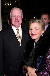 DAME VIVIEN DUFFIELD the multi millionaire art benefactor and SIR JOCELYN STEVENS, at a party in London on 1st November 2000.OIP 111