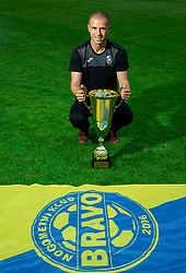 Dejan Grabic, coach during celebration of NK Bravo, winning team in 2nd Slovenian Football League in season 2018/19 after they qualified to Prva Liga, on May 26th, 2019, in Stadium ZAK, Ljubljana, Slovenia. Photo by Vid Ponikvar / Sportida