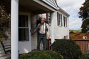 Organic farmer Joel Salatin at his home on Polyface Farms in Swoope, Virginia on Monday, October 3, 2011.