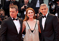Matt Damon, Julianne Moore and George Clooney at the premiere of the film Suburbicon at the 74th Venice Film Festival, Sala Grande on Saturday 2 September 2017, Venice Lido, Italy.