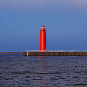 &quot;South Pierhead Lighthouse&quot;<br /> <br /> Brilliant red South Pierhead Lighthouse stands tall in Muskegon Harbor on Lake Michigan in Muskegon!!<br /> <br /> Lighthouses of the Great Lakes by Rachel Cohen