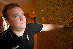 Matej Avanzo of KZS during press conference of Slovenia team at 2010 FIBA World Championships on August 31, 2010 in Polat Renaissance Hotel in Istanbul, Turkey. (Photo By Vid Ponikvar / Sportida.com)