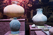 Artefacts on display at the Han Dynasty Tomb of Han Yang Ling, Xian, China