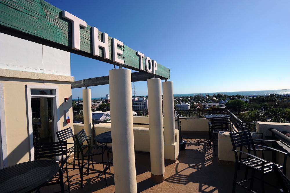 The Top, Dachterasse des La Concha Hotels mit Bar. Von hier hat man einen Rundumblick auf Key West...Florida 2009..Foto © Stefan Falke.