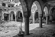 YEMEN. Old YEMEN. Old Caravanserai in the old city of Sana'a, UNESCO World Heritage Site, Sana'a.<br />2007in the old city of Sana'a, UNESCO World Heritage Site, Sana'a.<br />2007