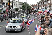 TWICKENHAM - JULY 29: Women's Olympic Road Cycle Race, Twickenham, Middlesex, UK. July 29, 2012. (Photo by Richard Goldschmidt)