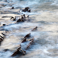 Rocks and Light on the Sea at St Monans East Neuk of Fife Scotland