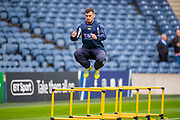 Stuart McInally (#2) of Edinburgh Rugby warms up before the Heineken Champions Cup quarter-final match between Edinburgh Rugby and Munster Rugby at BT Murrayfield Stadium, Edinburgh, Scotland on 30 March 2019.
