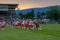 KELOWNA, BC - AUGUST 17:  The Westshore Rebels visit the Okanagan Sun  at the Apple Bowl on August 17, 2019 in Kelowna, Canada. (Photo by Marissa Baecker/Shoot the Breeze)