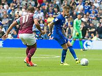 Football - 2017 / 2018 Championship - Cardiff City vs. Aston Villa<br /> <br /> <br /> Joe Bennett of Cardiff City passes the ball, at Cardiff City Stadium<br /> <br /> COLORSPORT/WINSTON BYNORTH