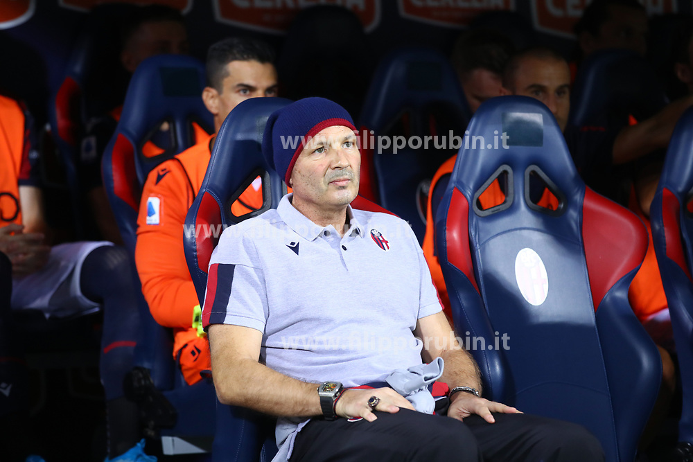 Bologna, Italy. 30th August, 2019. <br /> Football Italian championship Serie A 2019 2020 match Bologna vs Spal<br /> Bologna Italy August 30th, 2019<br /> Sinisa Mihajlovic, Bologna's coach leukemia patient