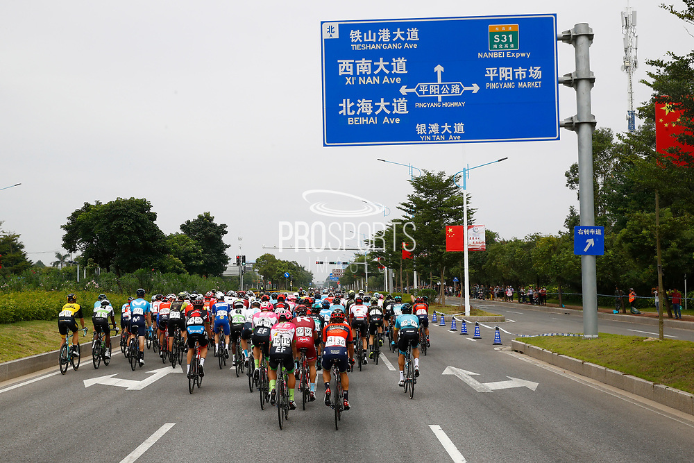 Landscape and peloton during the Tour of Guangxi 2018, stage 1, Beihai - Beihai 107,4 km on October 16, 2018 in Beihai, China - Photo Luca Bettini / BettiniPhoto / ProSportsImages / DPPI