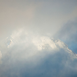 Mt. Adams Through the Clouds, Gifford Pinchot National Forest, Washington, US