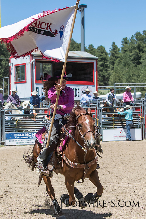 Grand entry of the first performance of the Elizabeth Stampede on Saturday, June 2, 2018.