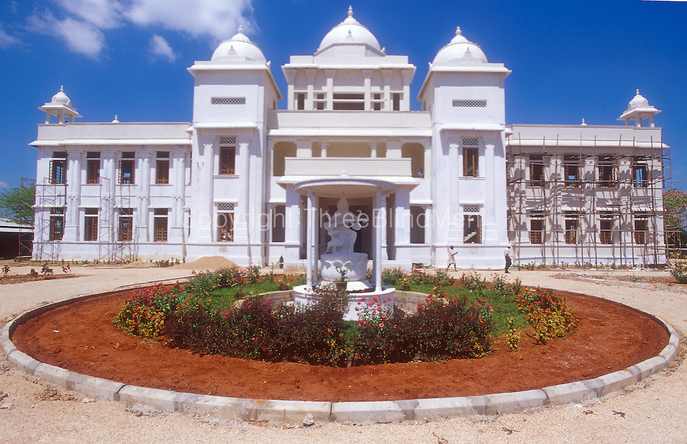Jaffna. The Jaffna Public Library being rebuilt. It was burnt to the ground during the conflict between the LTTE Tamil Tigers and the Sri Lankan government. March 2002.