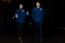 Michael Kelly of Bristol Rovers and Edward Upson of Bristol Rovers arrives at Memorial Stadium prior to kick off  - Mandatory by-line: Ryan Hiscott/JMP - 21/11/2018 - FOOTBALL - Memorial Stadium - Bristol, England - Bristol Rovers v Barnet - Emirates FA Cup First Round Proper