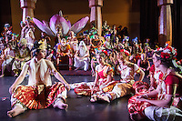 Students prepare for Mount Madonna School's 37th annual stage production of the Ramayana, a musical treatment of the Indian epic. Credit: Preston Merchant
