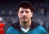 Paul Ramsey, professional footballer, Leicester City & N Ireland, April, 1986, 19860410PR1<br /> <br /> Copyright Image from Victor Patterson, 54 Dorchester Park, <br /> Belfast, UK, BT9 6RJ<br /> <br /> t1: +44 28 9066 1296 (from Rep of Ireland 048 9066 1296)<br /> t2: +44 28 9002 2446 (from Rep of Ireland 048 9002 2446)<br /> m: +44 7802 353836<br /> <br /> e1: victorpatterson@me.com<br /> e2: victorpatterson@gmail.com<br /> <br /> www.victorpatterson.com<br /> <br /> Please see my Terms and Conditions of Use at VICTORPATTERSON.COM. It is IMPORTANT that you familiarise yourself with them.<br /> <br /> Images used on the Internet must be visibly watermarked i.e. ©VICTORPATTERSON.COM within the body of the image and copyright metadata must not be deleted. Images used on the Internet have a size restriction of 4kbs and are chargeable at the then current NUJ rates.<br /> <br /> This image is only available for the use of the download recipient i.e. television station, newspaper, magazine, book publisher, etc, and must not be passed on to any third party. It is also downloaded on condition that each and every usage is notified within 7 days to victorpatterson@me.com<br /> <br /> The right of Victor Patterson to be identified as the author is asserted in accordance with The Copyright Designs And Patents Act (1988).