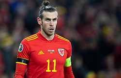 CARDIFF, WALES - Tuesday, November 19, 2019: Wales' captain Gareth Bale during the final UEFA Euro 2020 Qualifying Group E match between Wales and Hungary at the Cardiff City Stadium. (Pic by Laura Malkin/Propaganda)