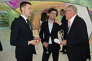 SIMON DENNY; RUAIRIADH O CONNELL; RICHARD WENTWORTHSerpentine's Summer party co-hosted with Christopher Kane. 15th Serpentine Pavilion designed by Spanish architects Selgascano. Kensington Gardens. London. 2 July 2015.