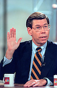 Rep. Bill McCollum discusses the Starr report September 13, 1998 during NBC's Meet the Press in Washington, DC.