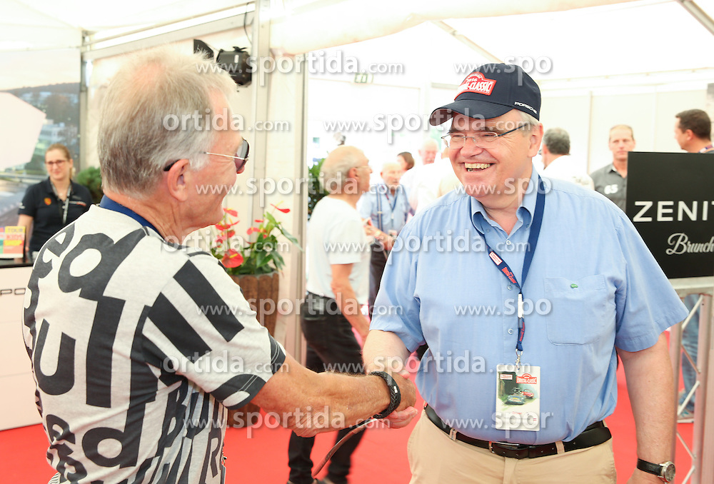 30.07.2016, Gröbming, AUT, Ennstal-Classic 2016, Geolyth-Prolog, im Bild Dieter Quester und Justizminister Wolfgang Brandstetter // during the Ennstal-Classic 2016 in Gröbming, Austria on 2016/07/30. EXPA Pictures © 2016, PhotoCredit: EXPA / Martin Huber