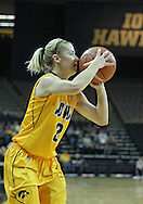 December 30, 2011: Iowa Hawkeyes guard Kamille Wahlin (2) puts up a three point shot during the NCAA women's basketball game between the Northwestern Wildcats and the Iowa Hawkeyes at Carver-Hawkeye Arena in Iowa City, Iowa on Wednesday, December 30, 2011.