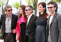 Ricardo Darin, Erica Rivas, Oscar Martinez, Maria Marull and Leonardo Sbaraglia at the photo call for the film Wild Tales (Relatos Salvajes) at the 67th Cannes Film Festival, Saturday 17th May 2014, Cannes, France.
