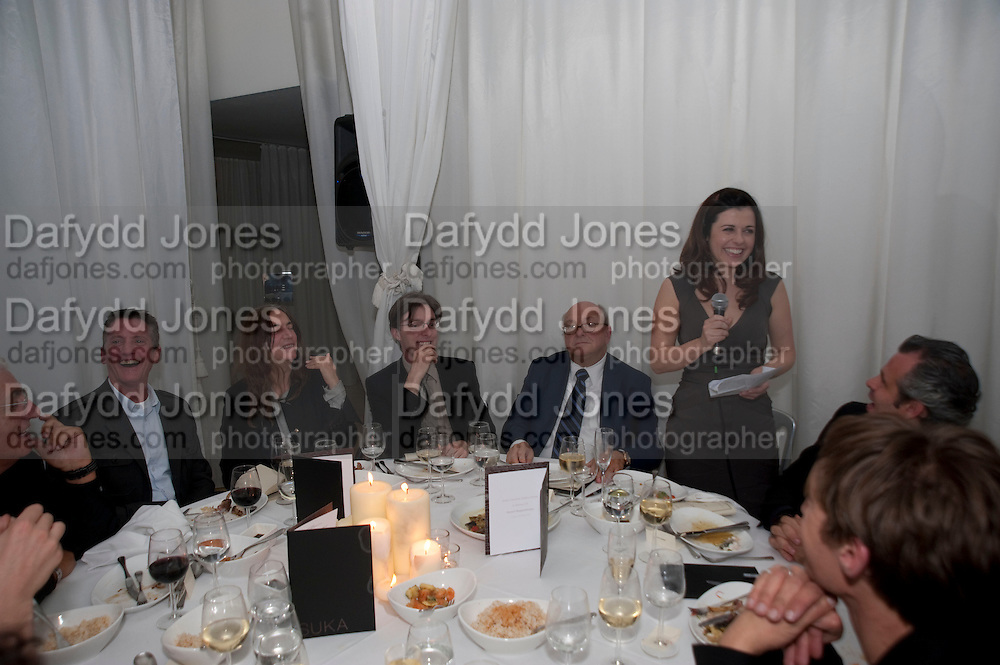 ALISON JACQUES;  Robert Mapplethorpe's A Season in Hell. Alison Jacques Gallery and afterwards at the Sanderson Hotel. Berners St. London. 13 October 2009. *** Local Caption *** -DO NOT ARCHIVE-© Copyright Photograph by Dafydd Jones. 248 Clapham Rd. London SW9 0PZ. Tel 0207 820 0771. www.dafjones.com.<br /> ALISON JACQUES;  Robert Mapplethorpe's A Season in Hell. Alison Jacques Gallery and afterwards at the Sanderson Hotel. Berners St. London. 13 October 2009.