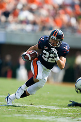 Virginia wide receiver Staton Jobe (22) rushes up field after a pass reception from Peter Lalich.  The Virginia Cavaliers defeated the Duke Blue Devils 23-14 at Scott Stadium in Charlottesville, VA on September 8, 2007  With the loss, Duke extended their longest-in-the-nation losing streak to 22 games.