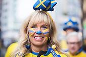 Svenska Fans i Milano inför Italien Sverige