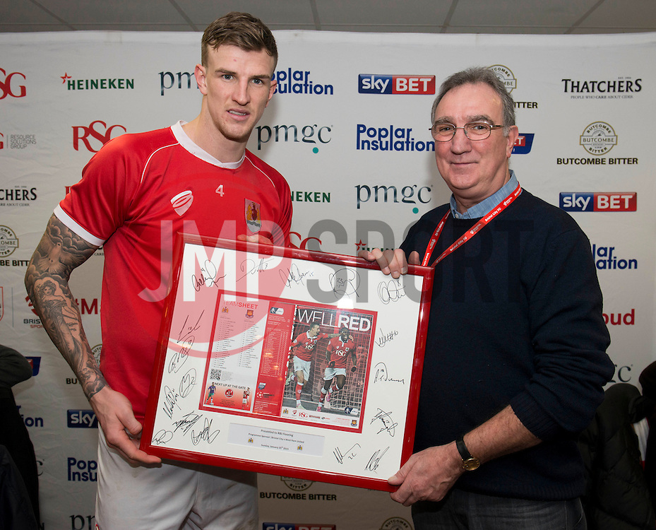 Man of the Match - Photo mandatory by-line: Dougie Allward/JMP - Mobile: 07966 386802 - 25/01/2015 - SPORT - Football - Bristol - Ashton Gate - Bristol City v West Ham United - FA Cup Fourth Round