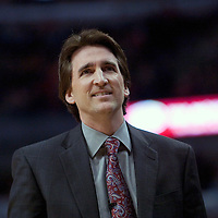 15 january 2009: Vinny Del Negro, head coach of the Chicago Bulls, is seen during the Chicago Bulls 102-93 victory over the Cleveland Cavaliers, at United Center, Chicago, Illinois, USA.