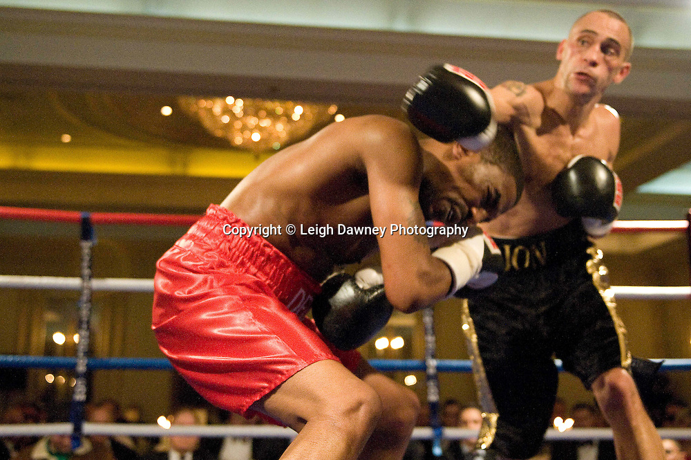 Jon Fernandes defeats Delroy Spencer at London's Millennium Hotel, Mayfair, 28th January 2010 - Mayfair Sporting Club (Mickey Helliet) Credit: © Leigh Dawney Photography