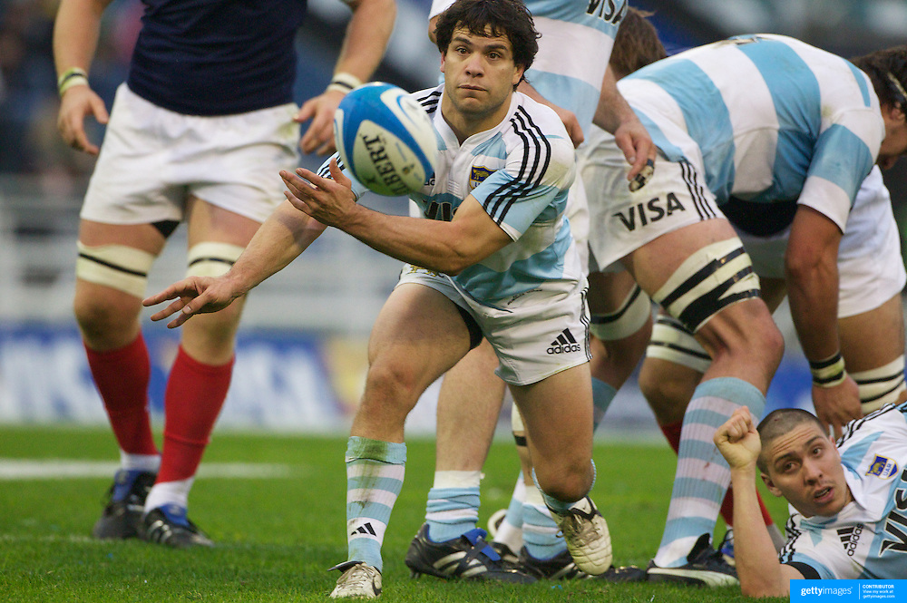 Nicolas Vergallo, Argentina, in action during the Argentina V France test match at Estadio Jose Amalfitani, Buenos Aires,  Argentina. 26th June 2010. Photo Tim Clayton...