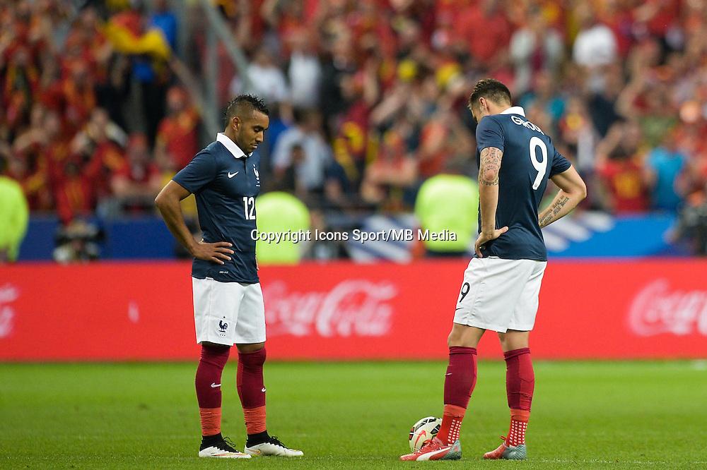 Deception France - Dimitri Payet / Olivier Giroud - 07.06.2015 - France / Belgique - Match amical<br /> Photo : Andre Ferreira / Icon Sport