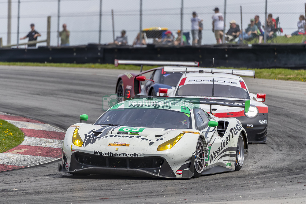 May 6, 2018 - Lexington, Ohio, United States of America - The Scuderia Corsa Ferrari 488 GT3 car races through the keyhole turn during the the Acura Sports Car Challenge at Mid Ohio Sports Car Course in Lexington, Ohio. (Credit Image: © Walter G Arce Sr Asp Inc/ASP via ZUMA Wire)