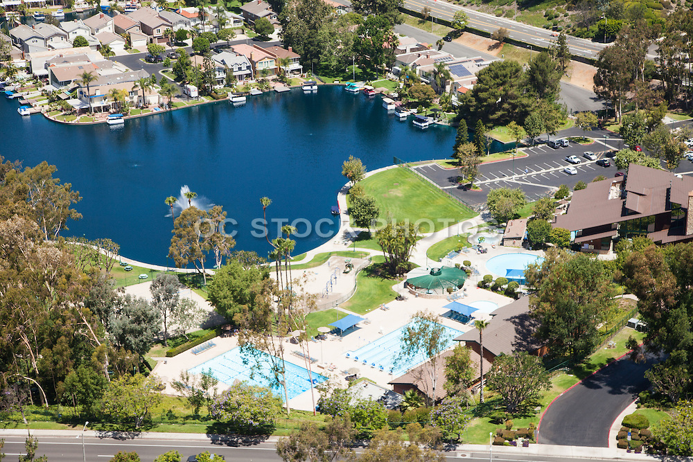 Lake Forest Sun & Sail Club Aerial Stock Photo | SoCal Stock