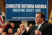 NJ Governor Chris Christie Townhall Meeting in West Deptford