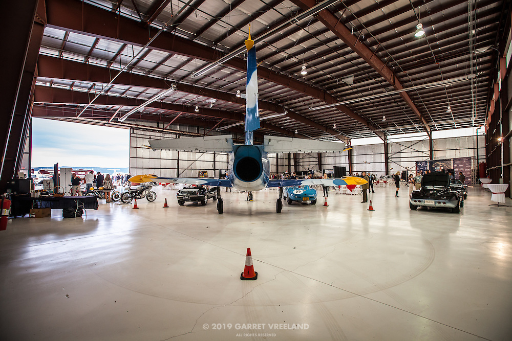 Venue during setup, Planes and Cars at the Santa Fe Airport, 2013 Santa Fe Concorso.