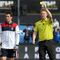 AMSTERDAM- Euro Hockey Leaque KO16<br /> Real Club de Polo de Barcelona - Club Egara<br /> foto: Umpire Coen van Bunge.<br /> FFU PRESS AGENCY COPYRIGHT FRANK UIJLENBROEK