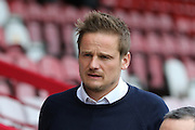 AFC Wimbledon Manager Neal Ardley prior the Sky Bet League 2 match between AFC Wimbledon and Leyton Orient at the Cherry Red Records Stadium, Kingston, England on 23 April 2016. Photo by Stuart Butcher.