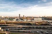 Distant view towards museum's site and city. Silesian Museum, Katowice, Poland. Architect: Riegler Riewe Architekten , 2014.