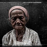 Homeless lady, Jakarta. Indonesia