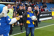 Mascot during the EFL Cup match between AFC Wimbledon and Milton Keynes Dons at the Cherry Red Records Stadium, Kingston, England on 13 August 2019.
