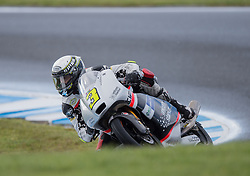 October 22, 2016 - Melbourne, Victoria, Australia - Italian rider Fabio Spiranelli (#3) of CIP-Unicorn Starker in action during the 3rd Moto3 Free Practice session at the 2016 Australian MotoGP held at Phillip Island, Australia. (Credit Image: © Theo Karanikos via ZUMA Wire)