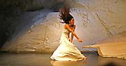 BERLIN - JANUARY 2007: Pina Bausch 'Rough Cut' performance on January 23, 2007 in Berlin, Germany. Bausch was a German performer, choreographer, teacher and ballet director.