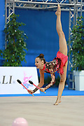 "Agagulian Iasmina during clubs routine at the International Tournament of rhythmic gymnastics ""Città di Pesaro"", 02 April,2016 . She is an Armenian rhythmic gymnastics athlete born in Yerevan in 2001.<br />